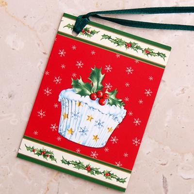 画像1: IHR リボン付きギフトタグ(ミニギフトカード):Cupcakes【ネコポス配送可】 (1)