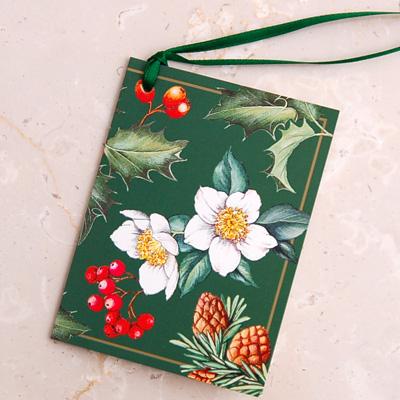 画像1: IHR リボン付きギフトタグ(ミニギフトカード):Winter Flora (1)