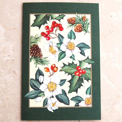 画像1: クリスマスカード:IHR Winter Flora【ネコポス配送可】 (1)