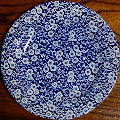 画像1: Burleigh バーレイ ブルーキャリコ プレート 26.5cm (1)